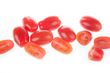 heathland tomatoes on an isolated white background