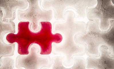 red  jigsaw piece