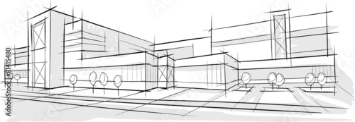 Architecture sketch of building - 81415480