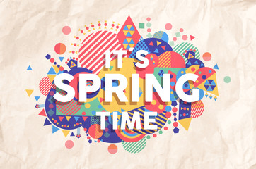 Spring time quote poster design