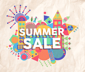 Summer sale quote poster design