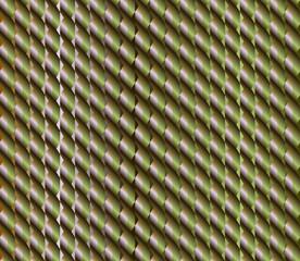 Green rose brown zigzag plait seamless pattern