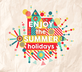Enjoy summer fun quote poster design