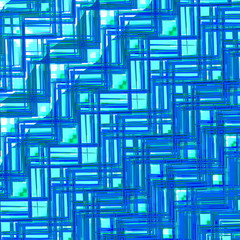 Blue Glass Texture. Abstract Geometric Pattern. Creative Design.