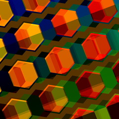 Colorful Abstract Composition. Modern Geometric Background.