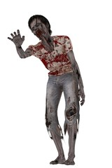 Lurching zombie with outstretched hand