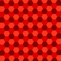 Red Hexagons Background. Abstract Geometric Pattern. Wallpaper.