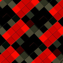 Red Grey Black Tiles Pattern. Abstract Texture Design.