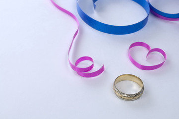 Engagement Ring with Pink Ribbons