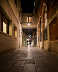 Streets of Venice at Night