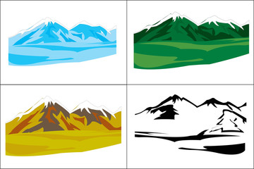 Selection of the landscapes with mountain