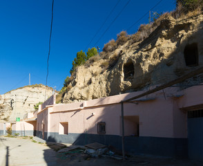 houses into rock. Andalusia, Spain