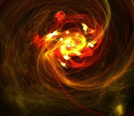 Abstract colorful space background. Smoke and waves
