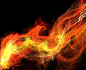 Abstract colorful waves or smoke background
