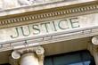 Leinwanddruck Bild - Justice sign