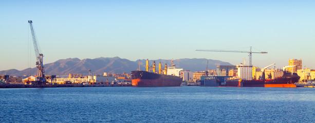 Industrial port of Malaga