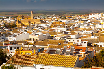 View of residential districts of andalucian town