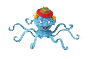 Toy of Quilling. Octopus