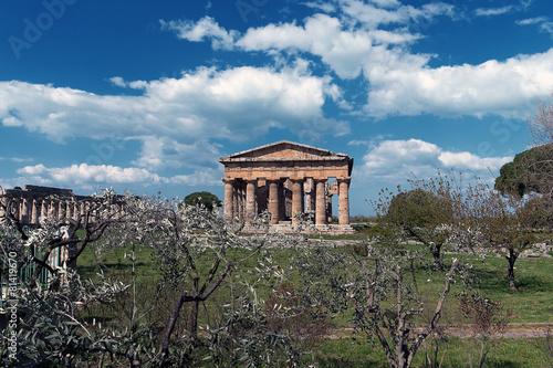 Staande foto Athene Area Archeologica Paestum - Templi