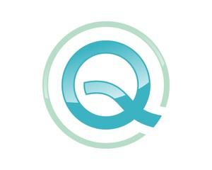 Q Letter Circle Logo