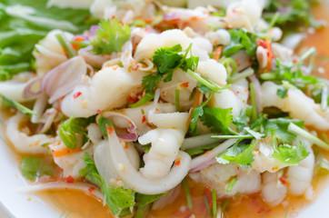 Chicken foot spicy salad, Thai food