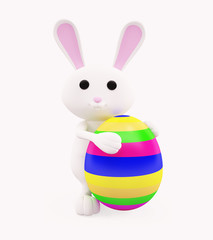 3D Bunny with egg