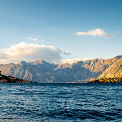 Mountains in Kotor bay