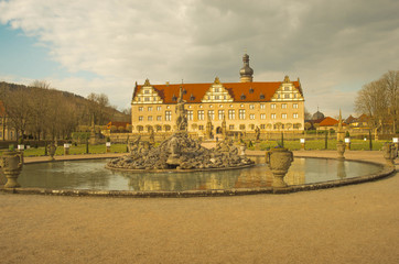 Schloss Weikersheim mit Brunnen