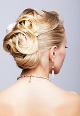 Blonde woman head