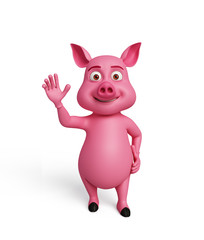 3d Pig with hi pose