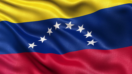 Flag of Venezuela waving in the wind - seamless loop