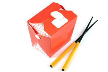 Chinese take away red food box