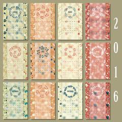 full creative flower calendar 2016