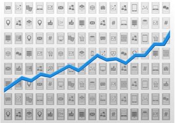 Abstract information technology analysis vector illustration