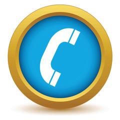 Gold phone icon