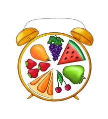 часы фруктовые