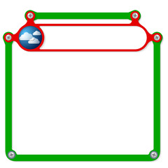 Red frame for headline and forecast icon