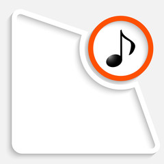 Abstract box for your text and music icon