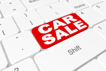 "Button ""Car sale"" on keyboard"