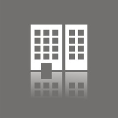 Icono edificio oficinas FO reflejo