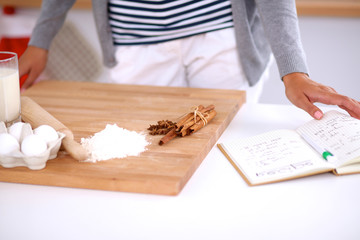 Baking ingredients for shortcrust pastry and plunger