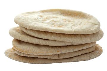 Pita Breads in a Pile
