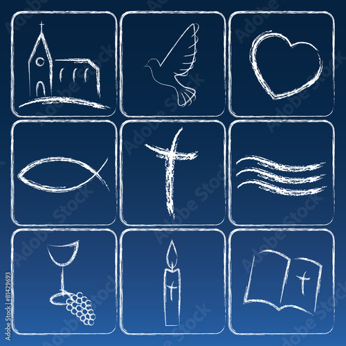 Zdjęcia na płótnie, fototapety, obrazy : Religion Symbole