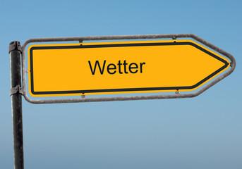 Strassenschild 38 - Wetter