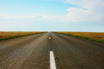 road sent to distance to horizon