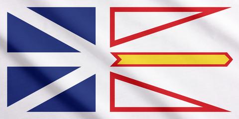 Newfoundland and Labrador flag waving