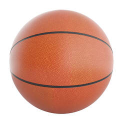 Basketball ball isolated on a white background. 3d illustration