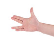Hand gesture of male hand.