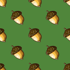 seamless pattern with hazelnuts-2