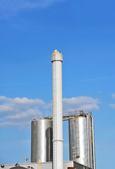 Brewery beer processing and storage silos tower
